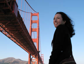 Maika at Golden Gate Bridge