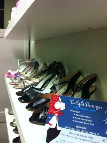 Tango shoes at Twilight Boutique